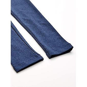 Essentials    Girls' 3-Pack Leggings, Navy heather/raspberry/white 4T