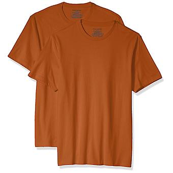 Essentials Men & apos, s 2-Pack Slim-Fit kortärmad Crewneck T-shirt, orange...