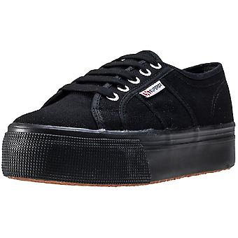 Superga 2790 Linea Up And Down Womens Platform Trainers in Black Black