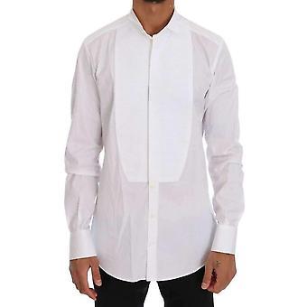 دولتشي وغابانا القطن الأبيض سليم الذهب قميص رسمي - TSH1483632