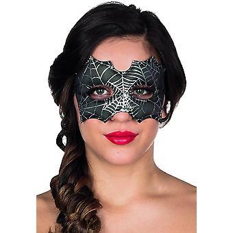 Maske Spinne Augenmaske Spinnennetz Halloween Karneval Spider