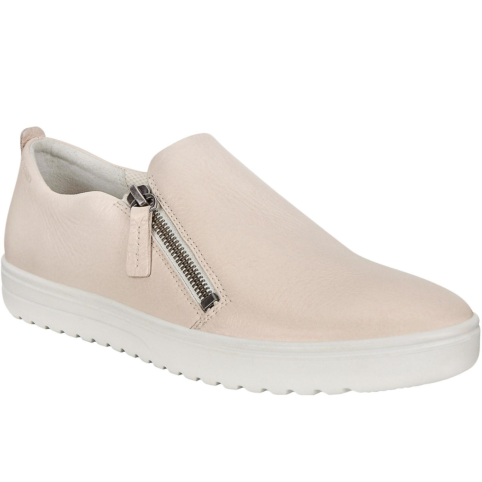Ecco Womens Fara Leather Casual Fashion Slip On Zip Up Trainers Pumps Shoes