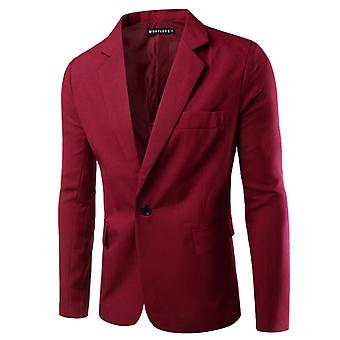 Men's One Button Slim Fit Casual Business Jacket