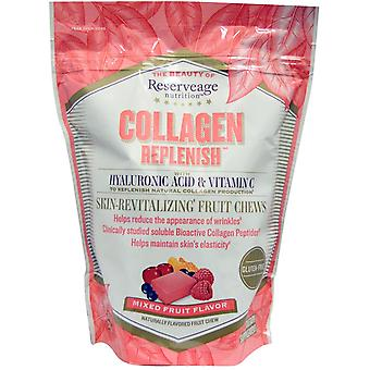 ReserveAge Nutrition, Collagen Replenish, Mixed Fruit Flavor, 60 Soft Chews
