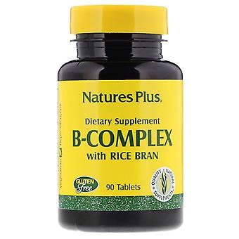 Nature's Plus, Complejo B con Arroz Bran, 90 Tabletas