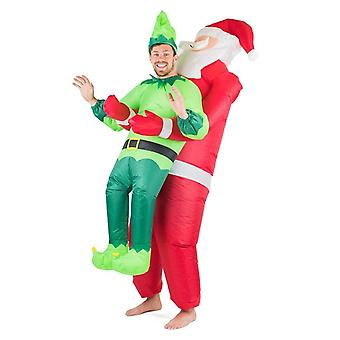 Inflatable Santa & Elf Halloween Costume Trick Or Treat