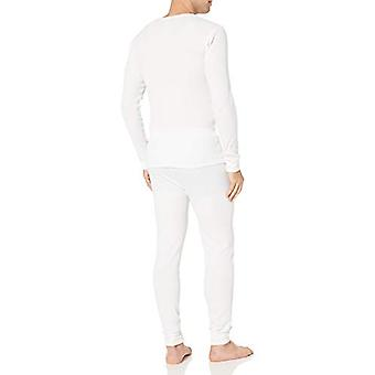 Essentials Men's Standard Thermal Long Underwear Set, White, Medium