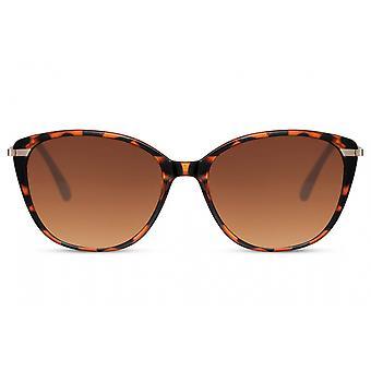 النظارات الشمسية المرأة فراشة كامل الحافة القط. 3 بني/ بني