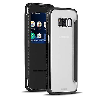 Transparent Glossy Shell for Samsung Galaxy S8 Plus Bling Glass Protection TPU Black