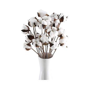 20pcs Rustic Cotton Flowers for House Decorations White 35CM