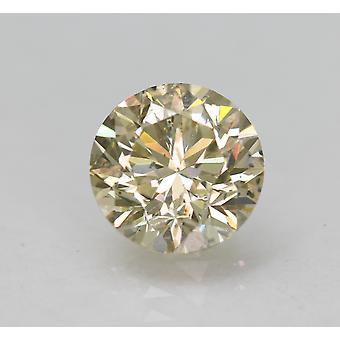 Zertifiziert 1,65 Karat M Farbe VS2 Runde brillante natürliche lose Diamant 7,38 mm
