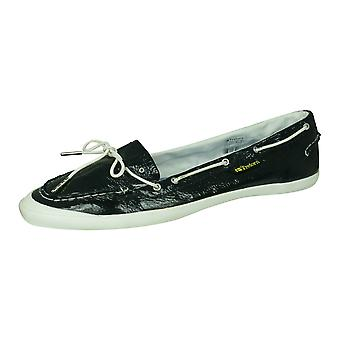 Tretorn Sunniva Patent Womens Leather Deck / Boat Shoes - Blue