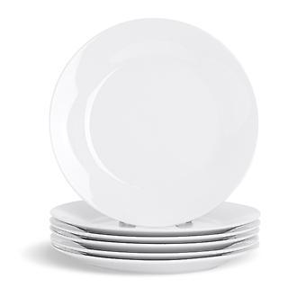 """24-osainen valkoinen jälkiruokalevysetti - klassiset posliinileipälautaset Sivulevyt - 190mm (8"""")"""