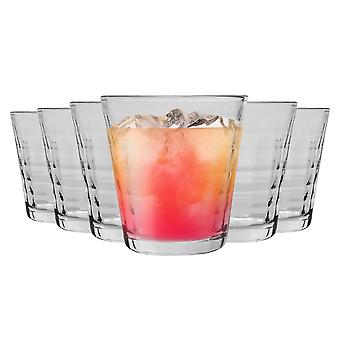Duralex Prisme Drinking Glasses - 220ml Tumblers for Water, Juice - Clear - Pack of 6