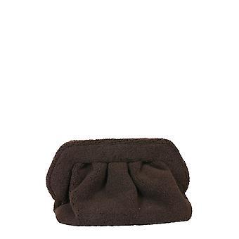 Themoirè Tmw20bp15 Women's Brown Faux Fur Clutch
