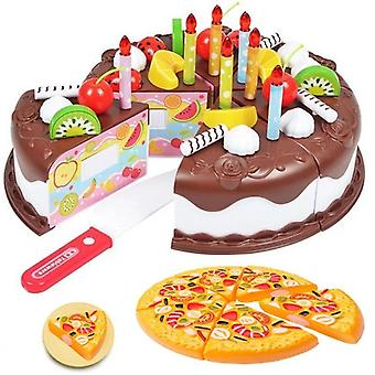 Diy Cake Køkken Plastic Food, Frugt, Foregive Play Baby Set Skæring Educational