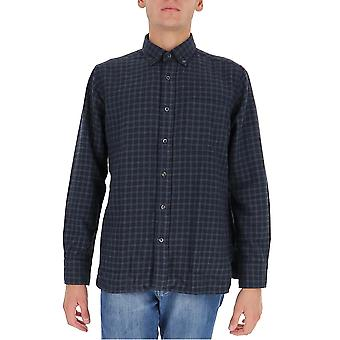Tom Ford 8ft17194utang Men's Blue Cotton Shirt