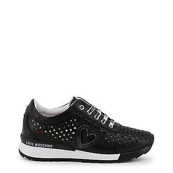 Love moschino ja15082 women's synthetic leather sneakers