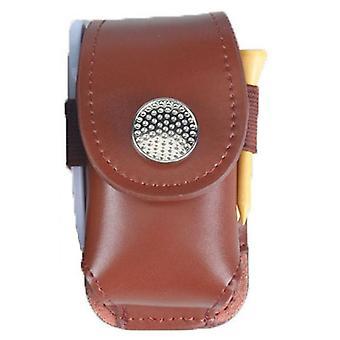Mini pochette portative de porte-balles de golf en cuir, sac de sac de sac de sac de taille de golfeur- outil d'aide