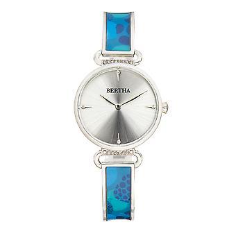 Bertha Katherine Enamel-Designed Bracelet Watch - Blue