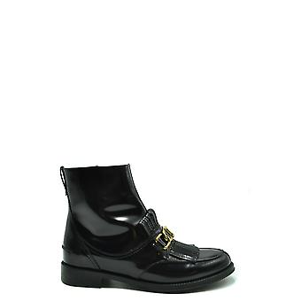 Tod's Ezbc025119 Women's Black Leather Ankle Boots