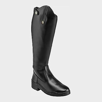 New Brogini Women's Modena Synthetic Riding Boot Black