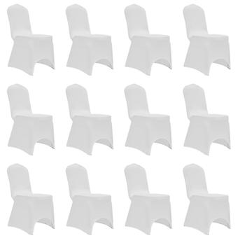 Stretch chair husses 12 pcs. white