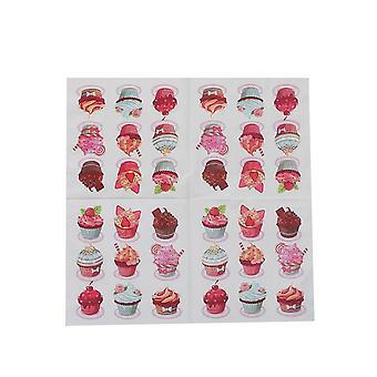 Tecido de guardanapo de papel de bolo, ornamentos decoupage