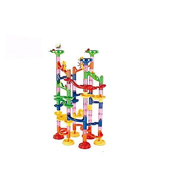 Marble Race Run Building Blocks Toys - Tubular Track Maze Ball Rolling Toy