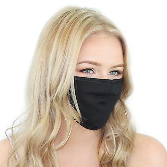 Reusable Cloth Face Mask With Filter And Nose Bridge
