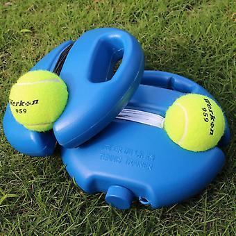 Herramienta de ayudas de entrenamiento de tenis portátil, con práctica de cuerda elástica auto-deber