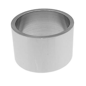 Friman rustfritt stål ring polert lang rett