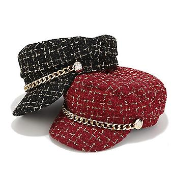 New Solid Chain Belt Streetwear Fashion Cap/women