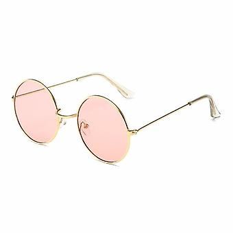 1pc Women Round Novelty Sunglasses Hip Hop Style Color Lenses Retro Glasses