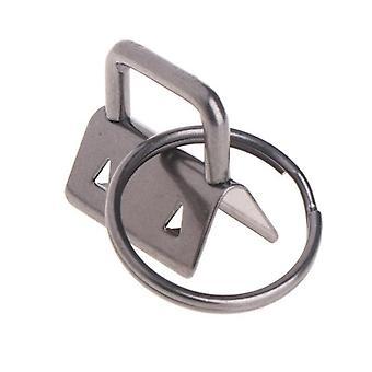 10pcs Key Fob Hardware Keychain Split Ring