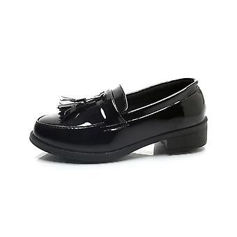 سميكة أسفل منصة هامش شرابة أحذية المرأة