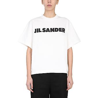 Jil Sander Jsps707050ws248708102 Women's White Cotton T-shirt