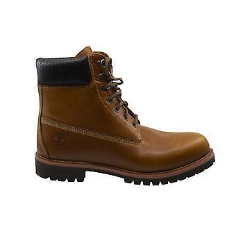 تيمبرلاند 6 بوصة المنسوجة براون الجلود الدانتيل حتى أحذية الرجال 9633B