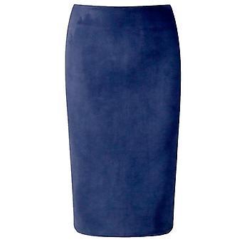 Χειμώνας Γυναίκες Midi μολύβι φούστα, υψηλή μέση, τέντωμα περιτύλιγμα