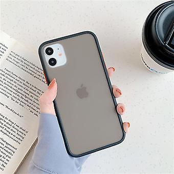 Shockproof Soft Silikónová mäta Hybridné jednoduché matný nárazník telefón puzdro pre iPhone