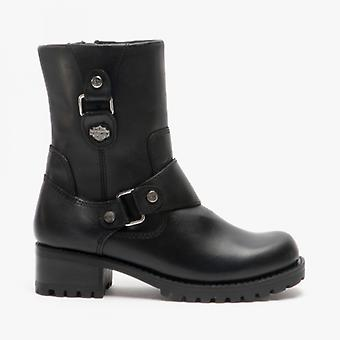 Harley Davidson Alivia Ladies Leather Ankle Boots Black