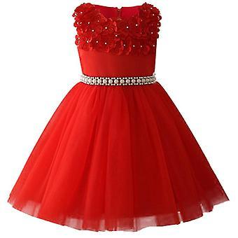 Little Kids Satin Elegant Comuniune Rochii Glitz Ball Dress Pageants Floare