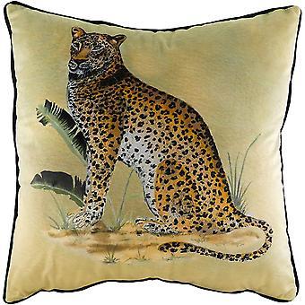 Evans Lichfield Kibale Leopard Cushion Cover