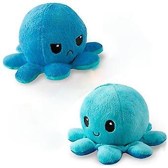 Doppelseitige Flip Octopus Plüsch gefüllte Puppe, zeigen verschiedene Stimmungen für Kinder