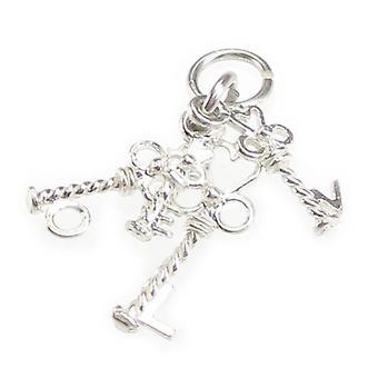 Clés d'amour Sterling Silver Charme .925 Charmes clés d'amour - 4692
