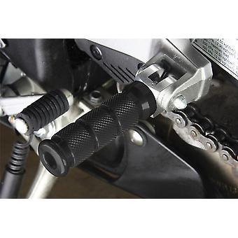BikeTek Alloy Round Sports Footpegs Kawasaki Pillion Black