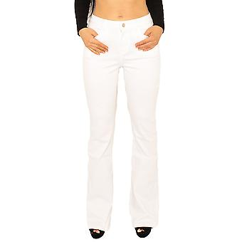 Stretch Denim Bootcut Jeans - White