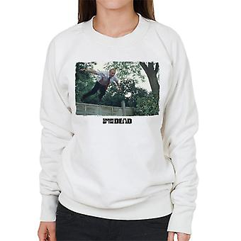 Shaun of the Dead Jumping Over Fence Women's Sweatshirt