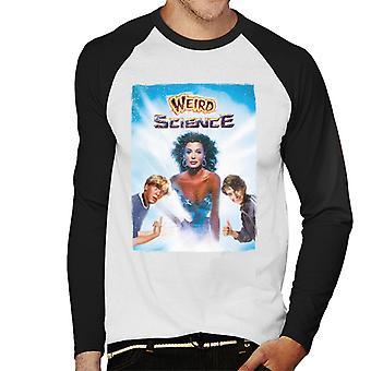 Weird Science Poster Men's Baseball Long Sleeved T-Shirt