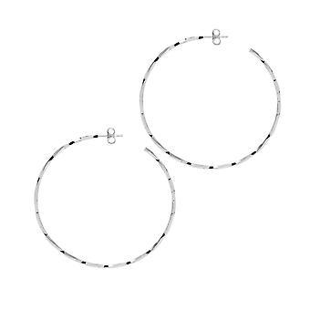 The Hoop Station La LAGO Di COMO Silver 55 Mm Hoop Earrings H136S